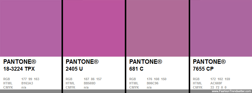 Cross-Referencing to Other PANTONE Libraries PANTONE 18-3224 Radiant Orchid