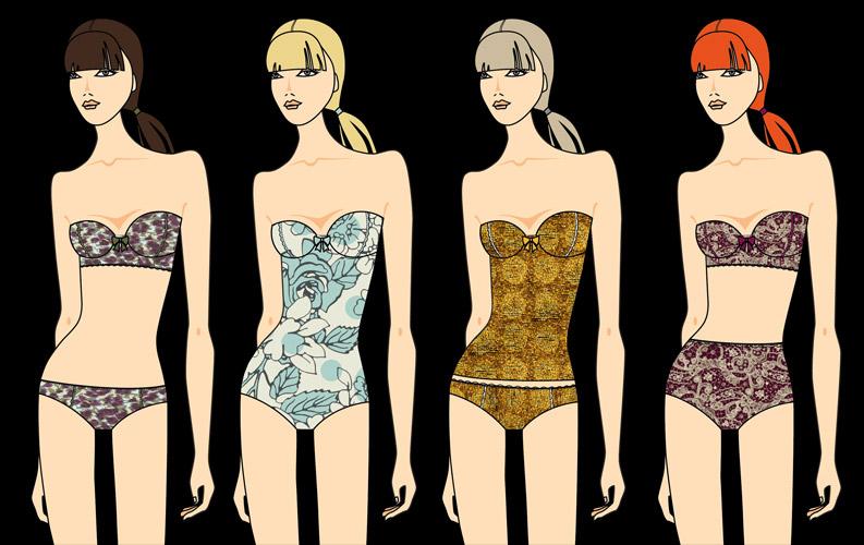 Sensitive® Fabrics Autumn/Winter 2015/16 Fashion Trends. Illustration courtesy of www.sensitivefabrics.it