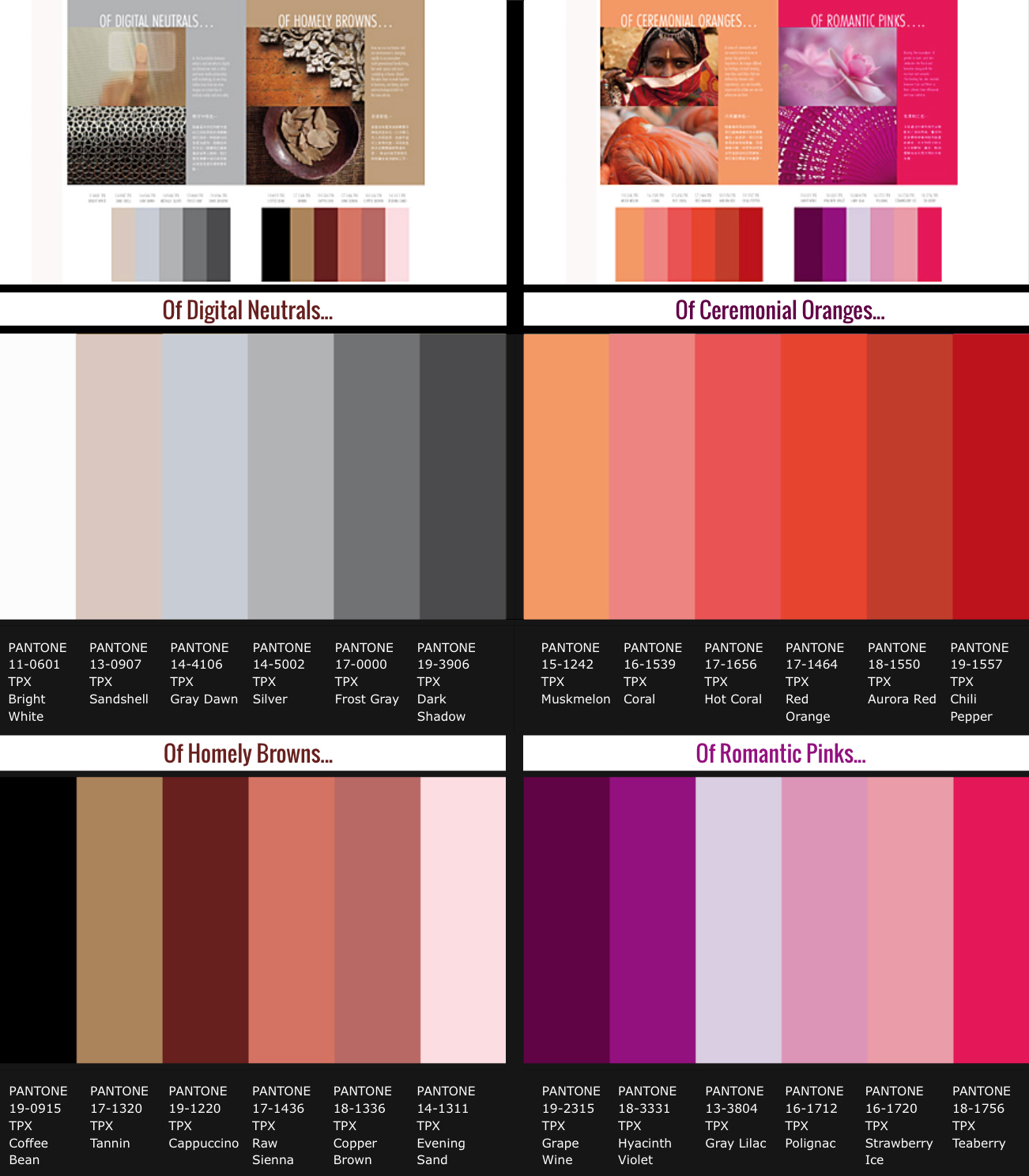 2019 year lifestyle- Summer spring color trends