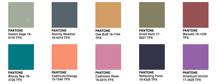 Fashion trendsetter 2017 - Pantone Fashion Color Report Fall 2015 Fashion Trendsetter