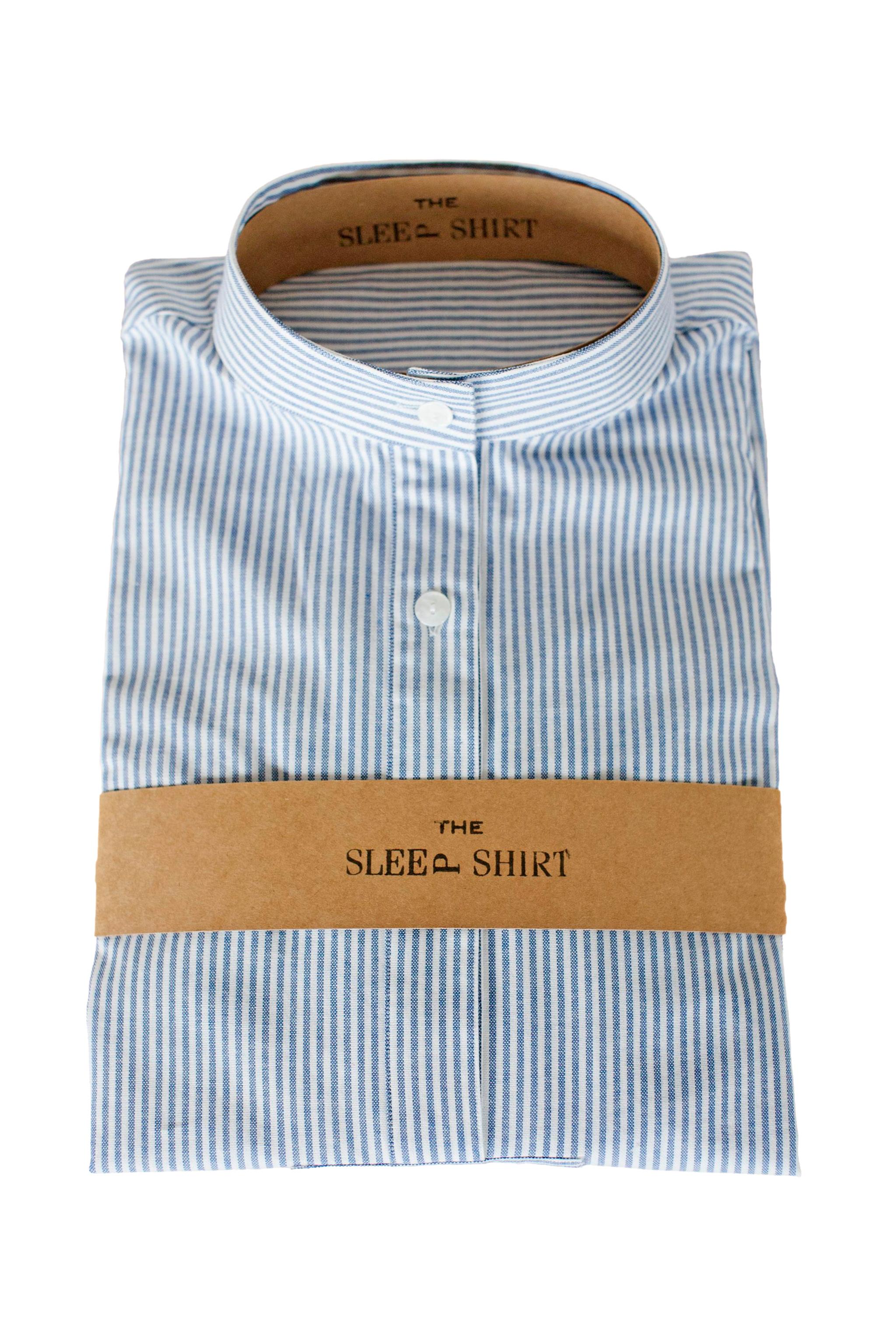 Short-Sleep-Shirt-Blue-Oxford-Stripe-01