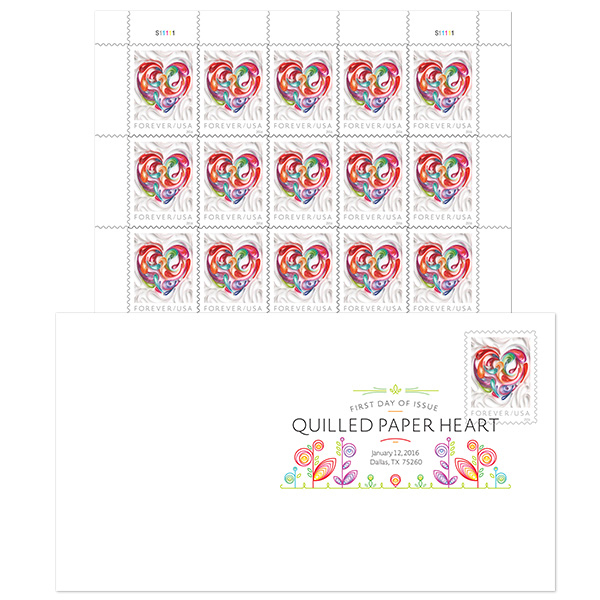 Love Takes To The Air Tomorrow From Dallas Field With Dedication Of Quilled Paper Heart Forever Stamps As 44th Inductee Into Postal