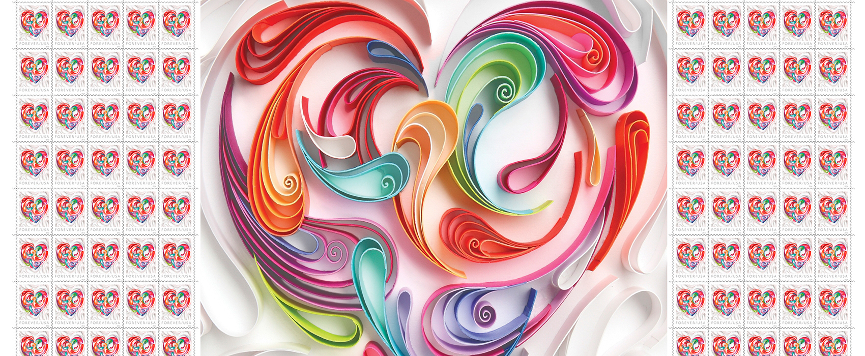 New 2016 Love Stamp Showcasing Stunning 3 D Artwork Captures Intricate Art Of Quilling