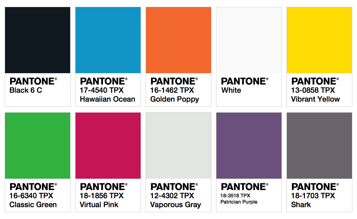 2017 aw fashion trend - Pantone Colors Fashion Trendsetter