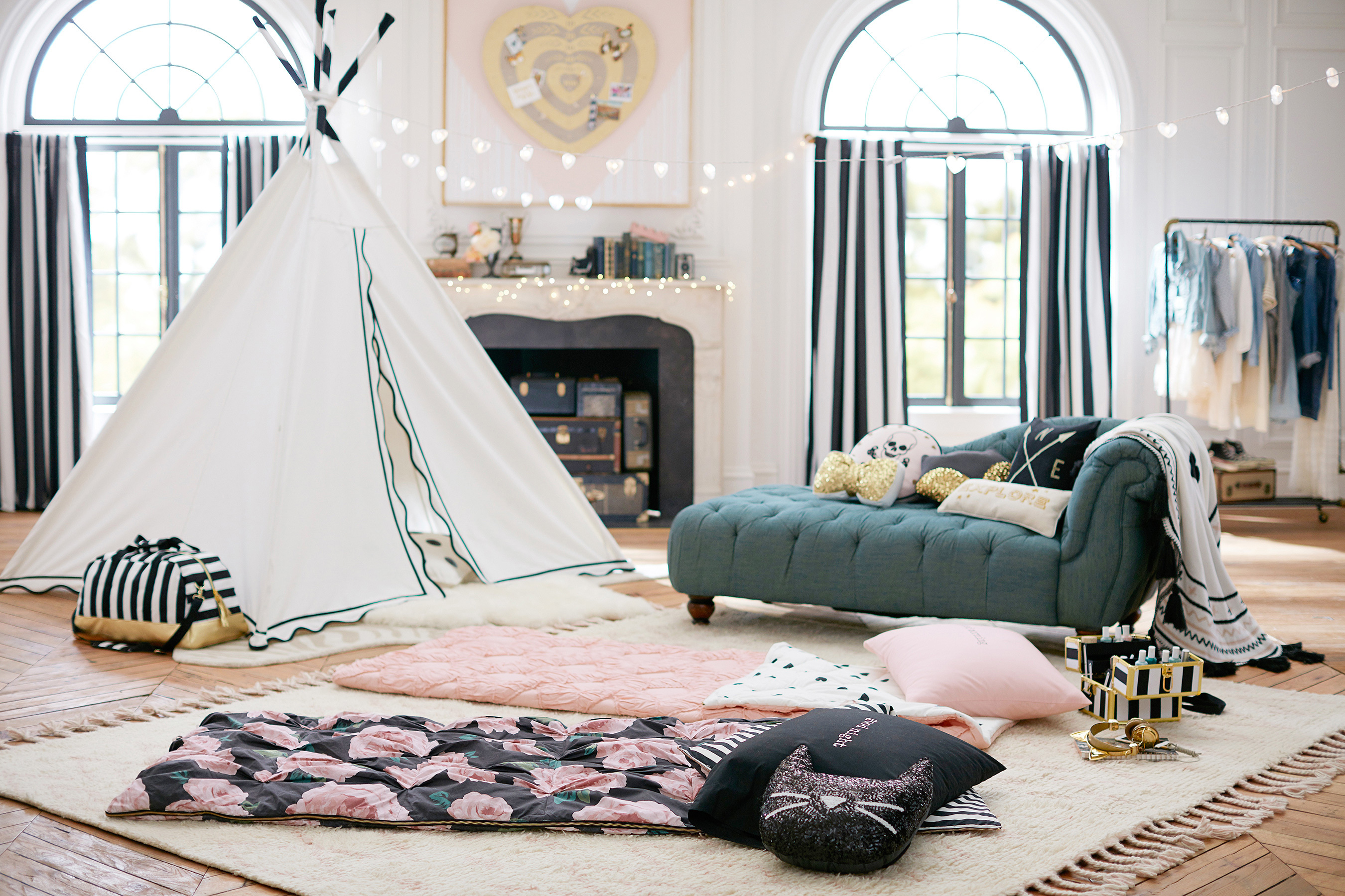 Emilie Bedroom Collection: PBteen Unveiled Ultimate Indoor Glamping Collection