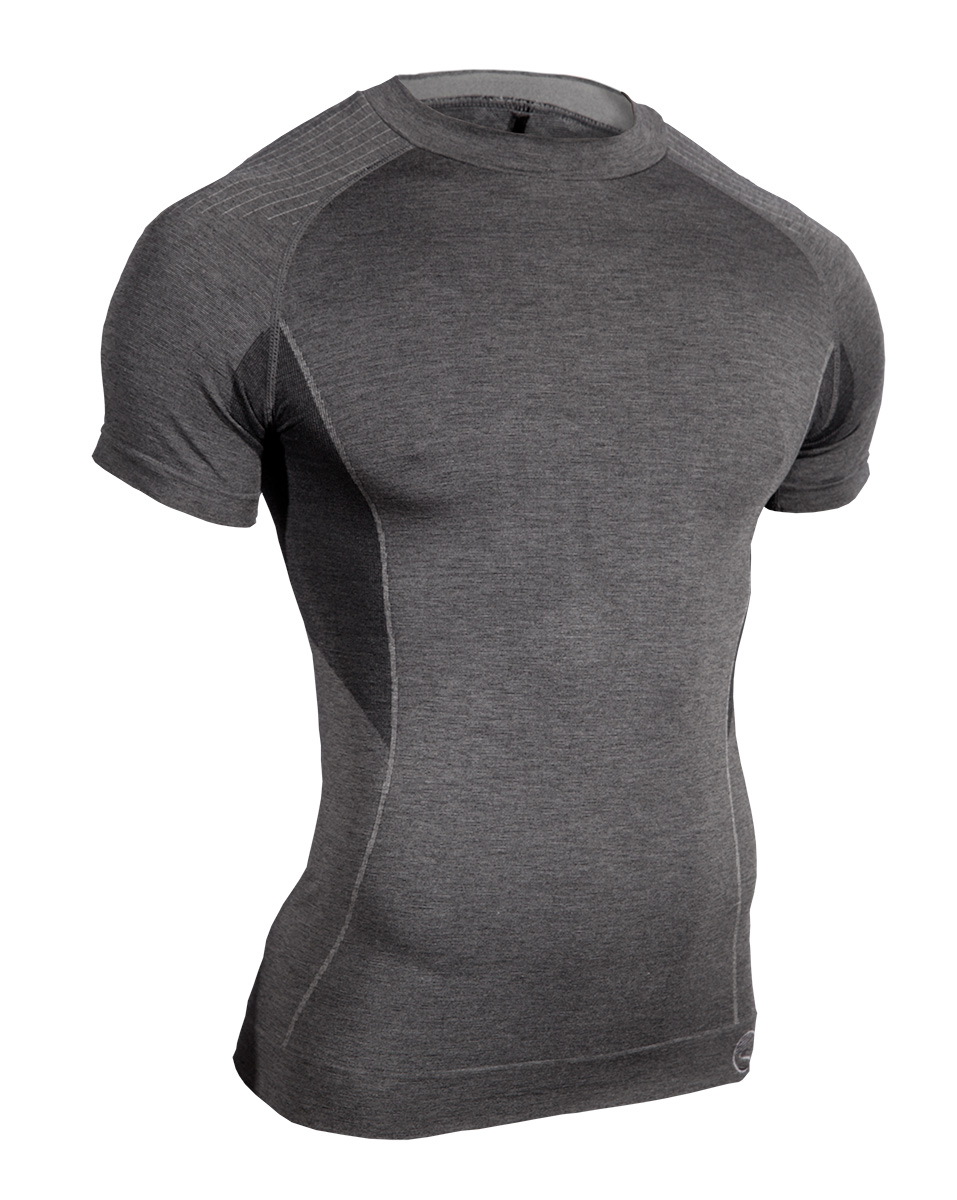 Mens-Short-Sleeve-Body-Mapped-Baselayer-Graphite-Front