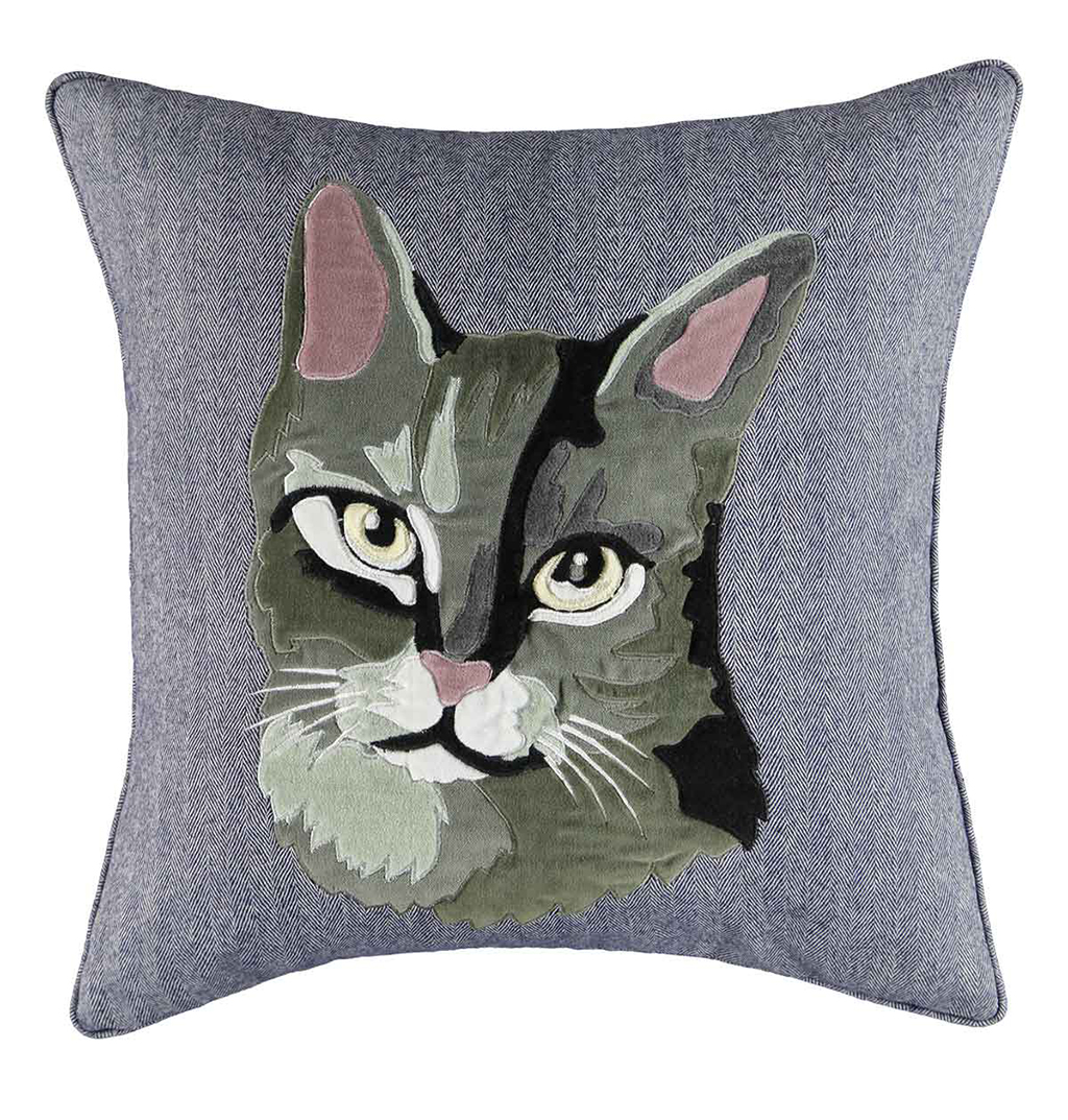 macy s home design studio cat decorative pillow