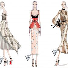 Fashion Sketches by Bibhu Mohapatra for SS'17 NYFW Collection