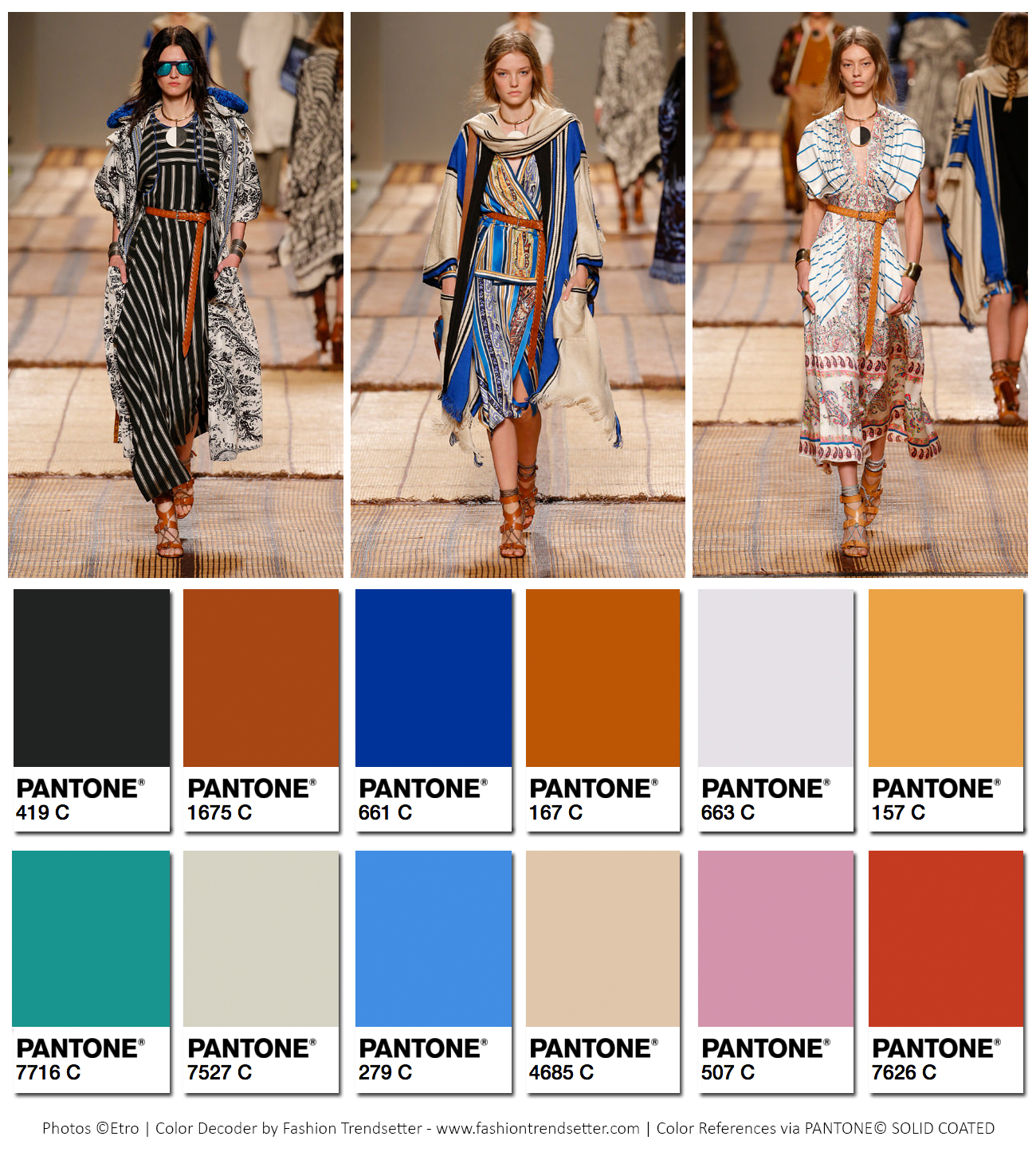 Etro Spring/Summer 2017 Collection Color Codes 2