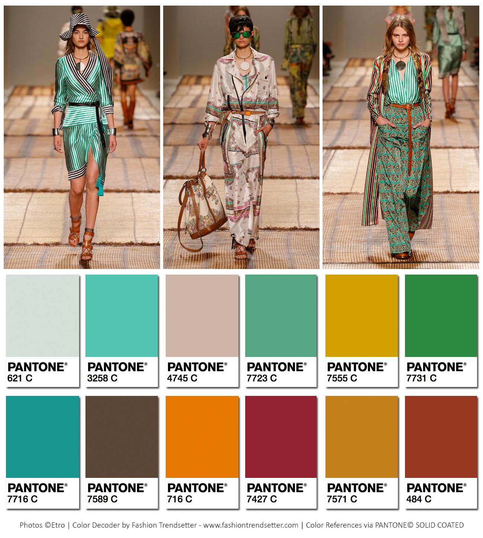 Etro Spring/Summer 2017 Collection Color Codes ‹ Fashion ...