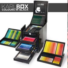 Karl Lagerfeld's KARLBOX - Colours in Black for Faber-Castell