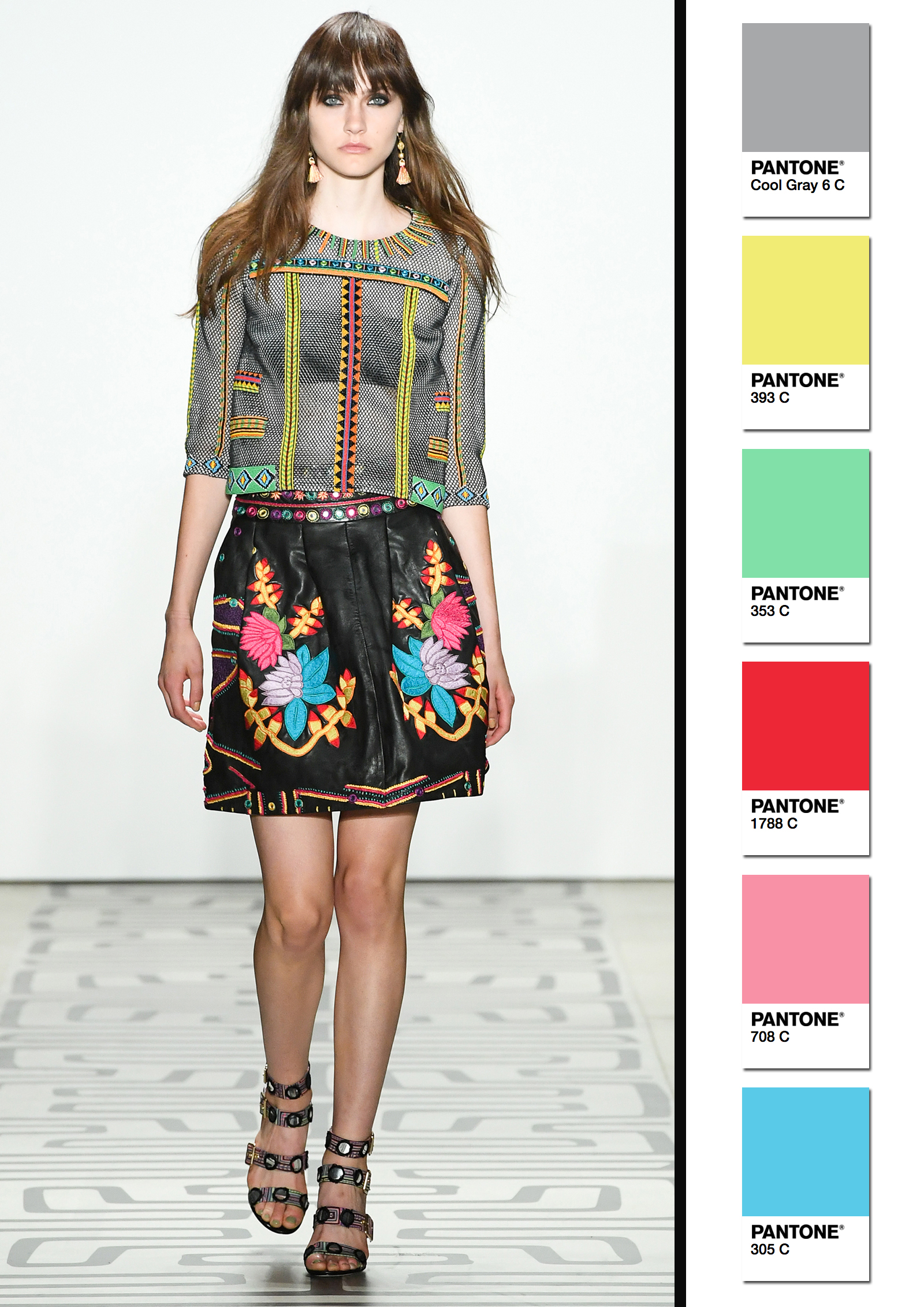 Nicole Miller Spring/Summer 2017 Collection Color Codes 1