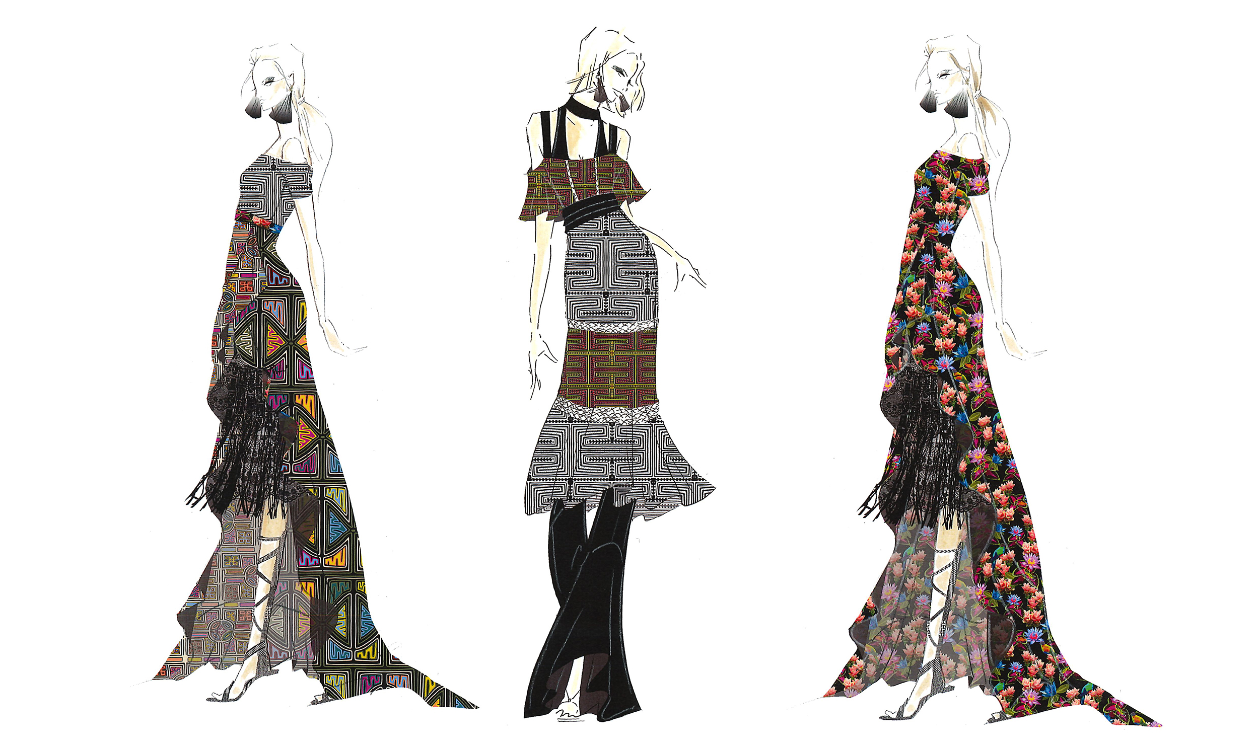 Fashion Sketches By Nicole Miller For Ss 17 Nyfw Collection Fashion Trendsetter