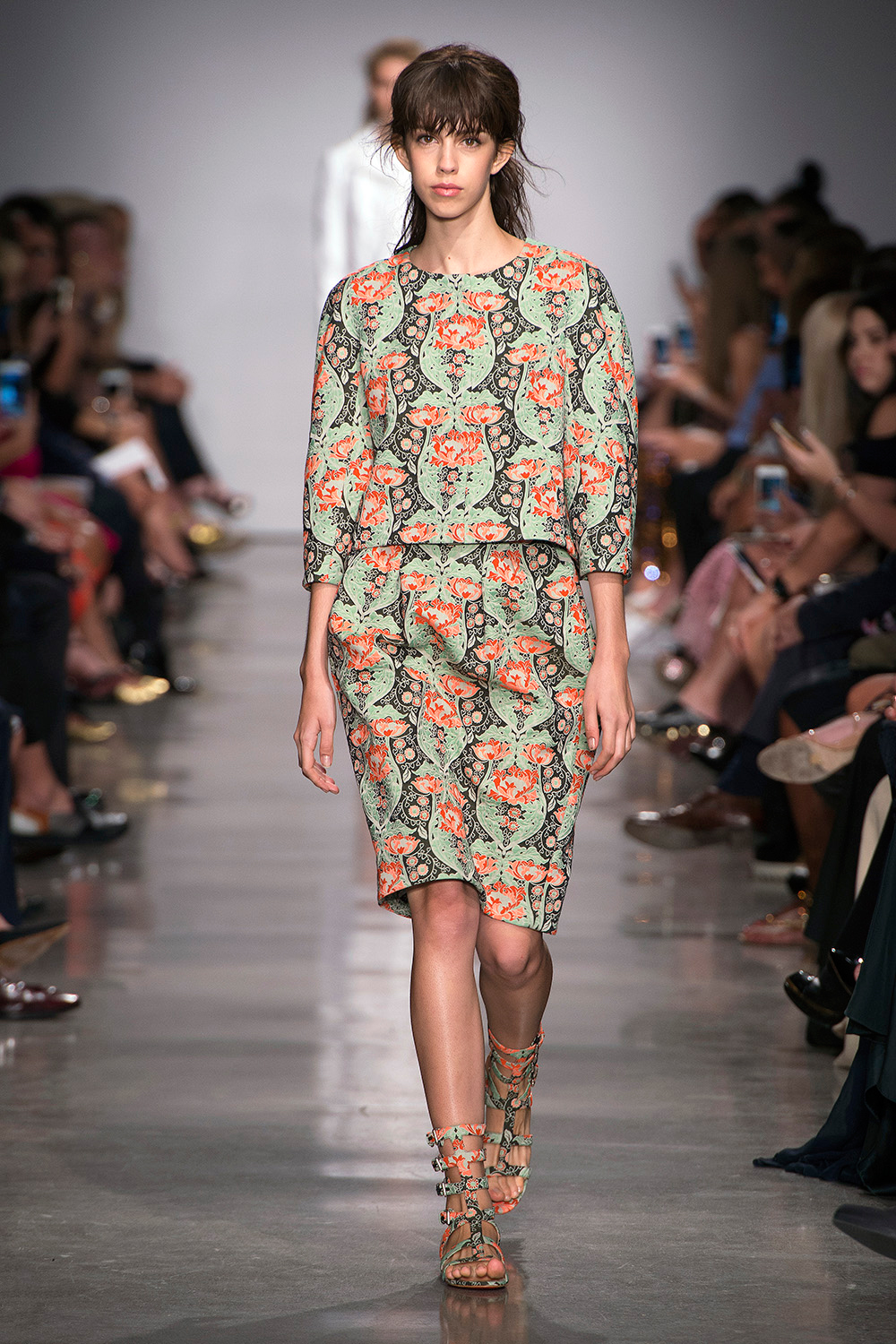 Look 15: Green Floral Top and Skirt