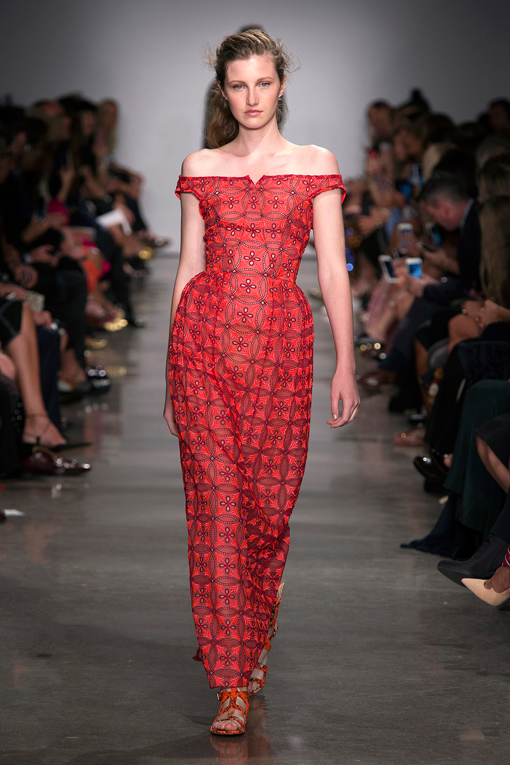 Look 32: Coral Gown
