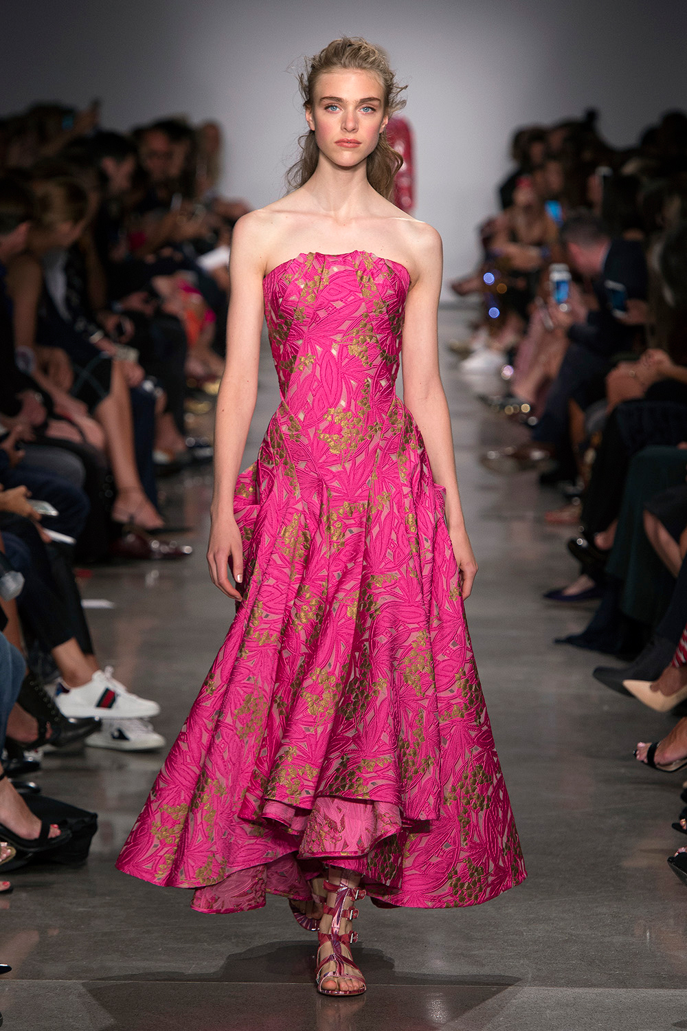 Look 34: Pink and Antique Gold Dress