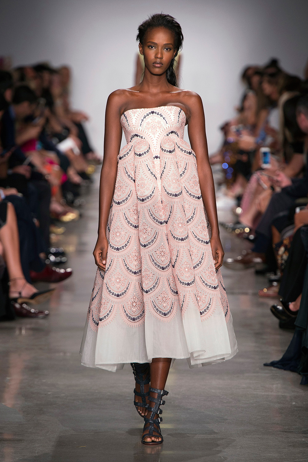 Look 37: Blush Strapless Dress