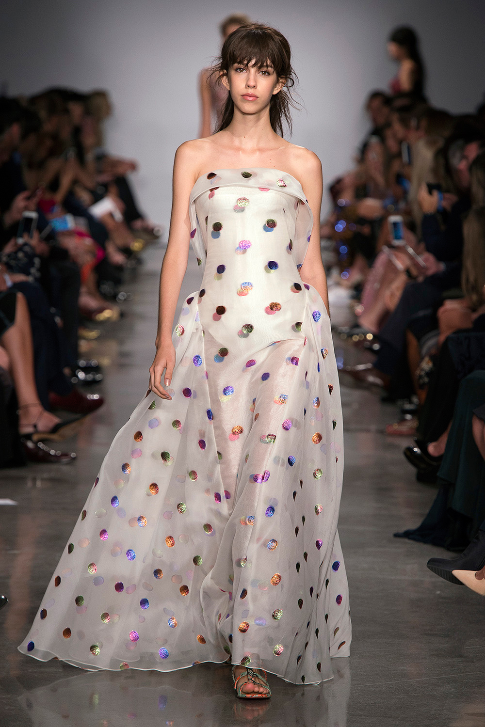 Look 39: Polka Dot Gown
