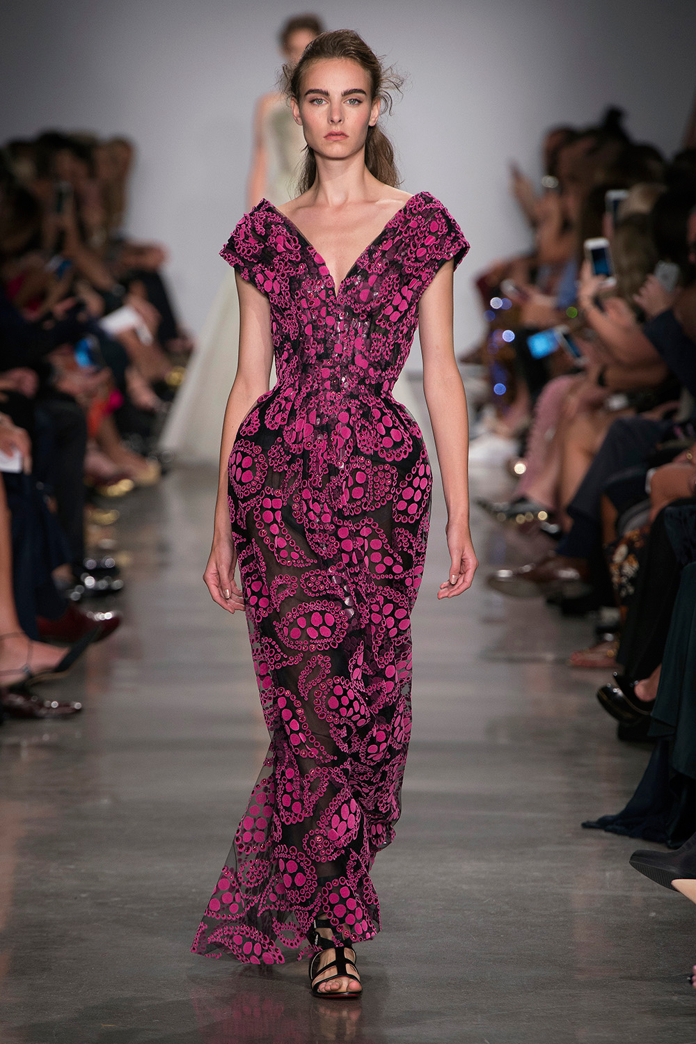 Look 45: Pink and Black Gown
