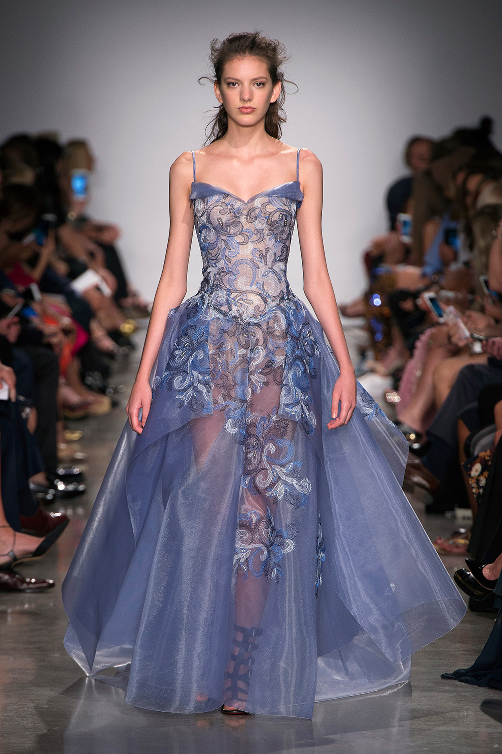 Look 48: Blue Gown