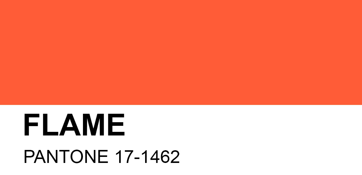 Image result for pantone flame colour