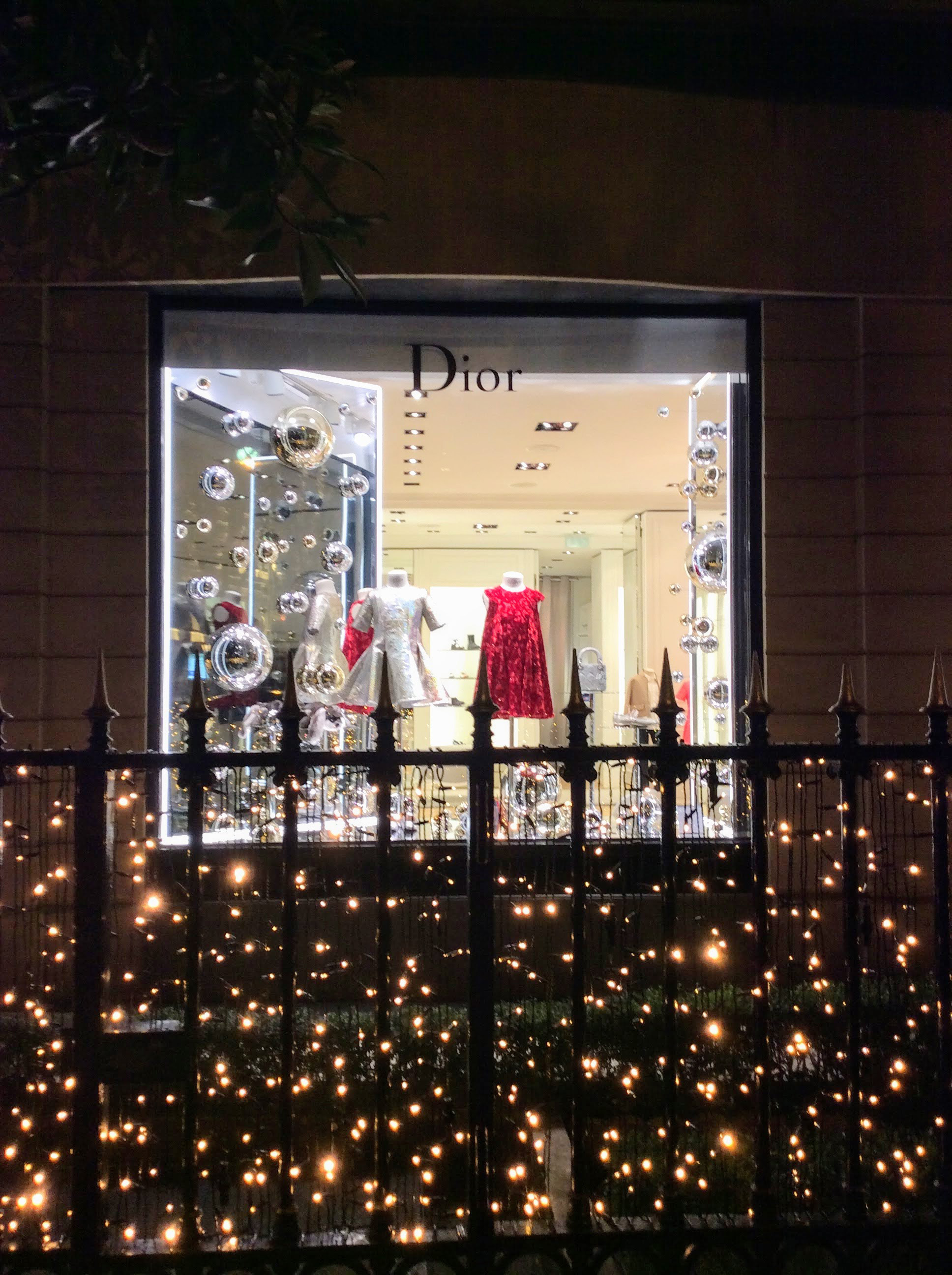 Avenue Montaigne Paris Fashion Windows - Dior