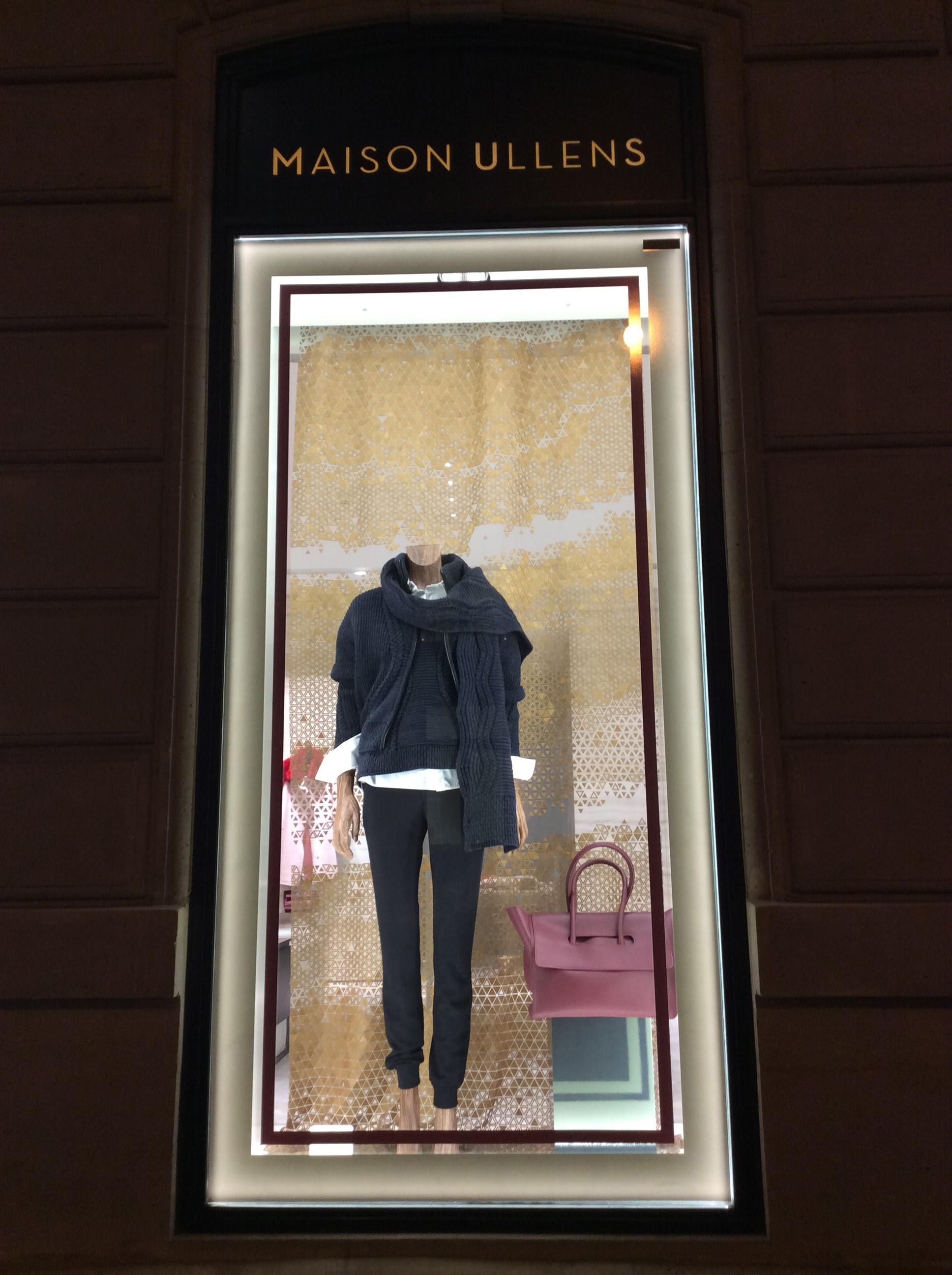 Avenue Montaigne Paris Fashion Windows - Maison Ullens