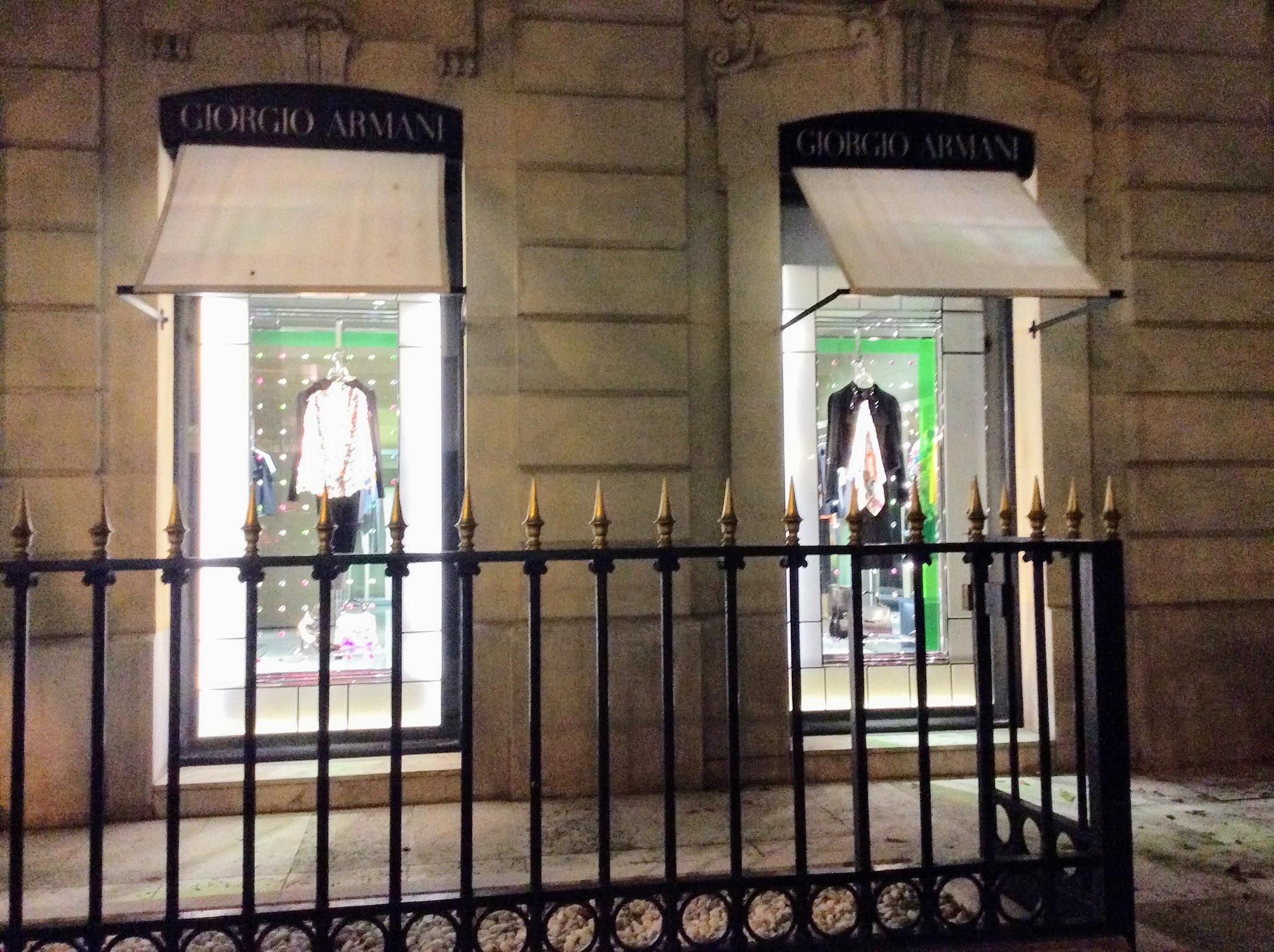 Avenue Montaigne Paris Fashion Windows - Giorgio Armani