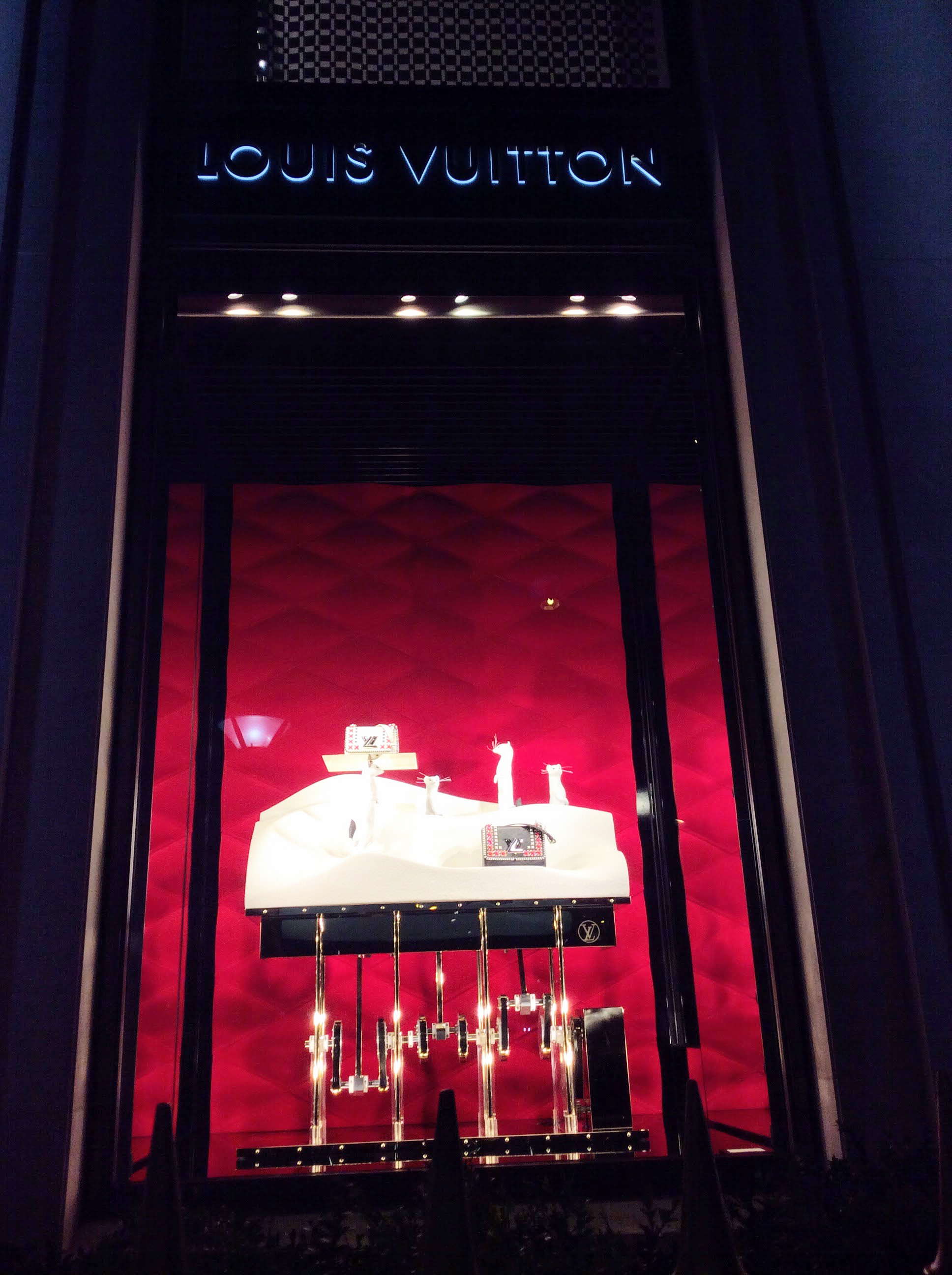 Avenue Montaigne Paris Fashion Windows - Louis Vuitton