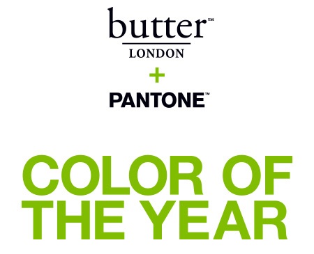 Pantone Color of the Year 2017: PANTONE 15-0343 Greenery | Butter London & Pantone