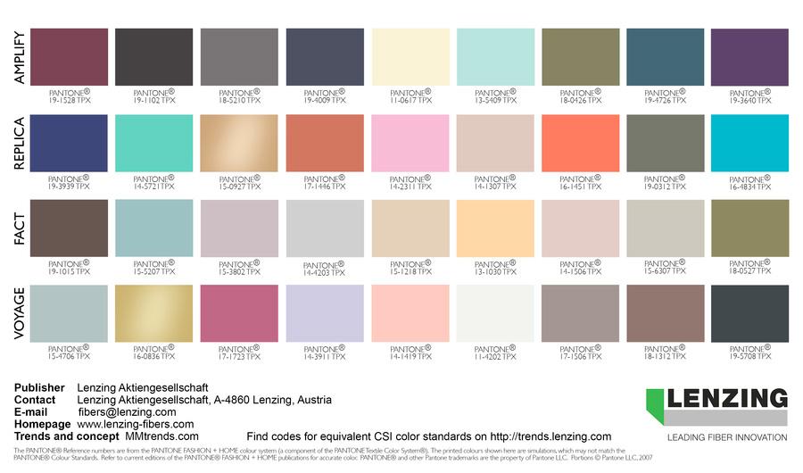 lenzing color trends autumn winter 2018 2019 fashion trendsetter. Black Bedroom Furniture Sets. Home Design Ideas