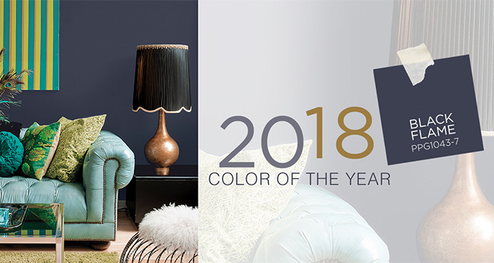 PPG 2018 Color of the Year: PPG1043-7 Black Flame