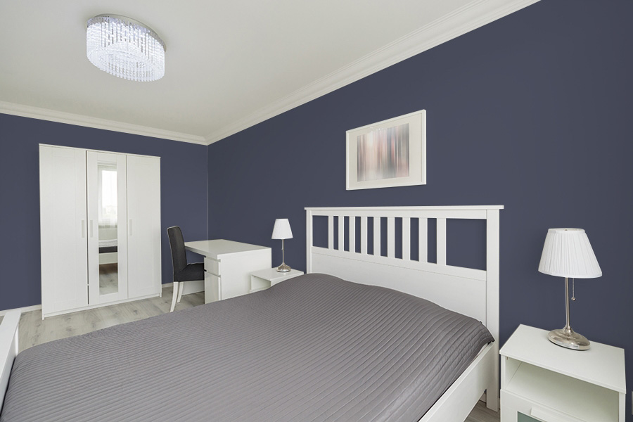PPG 2018 Color of the Year: PPG1043-7 Black Flame - Bedroom