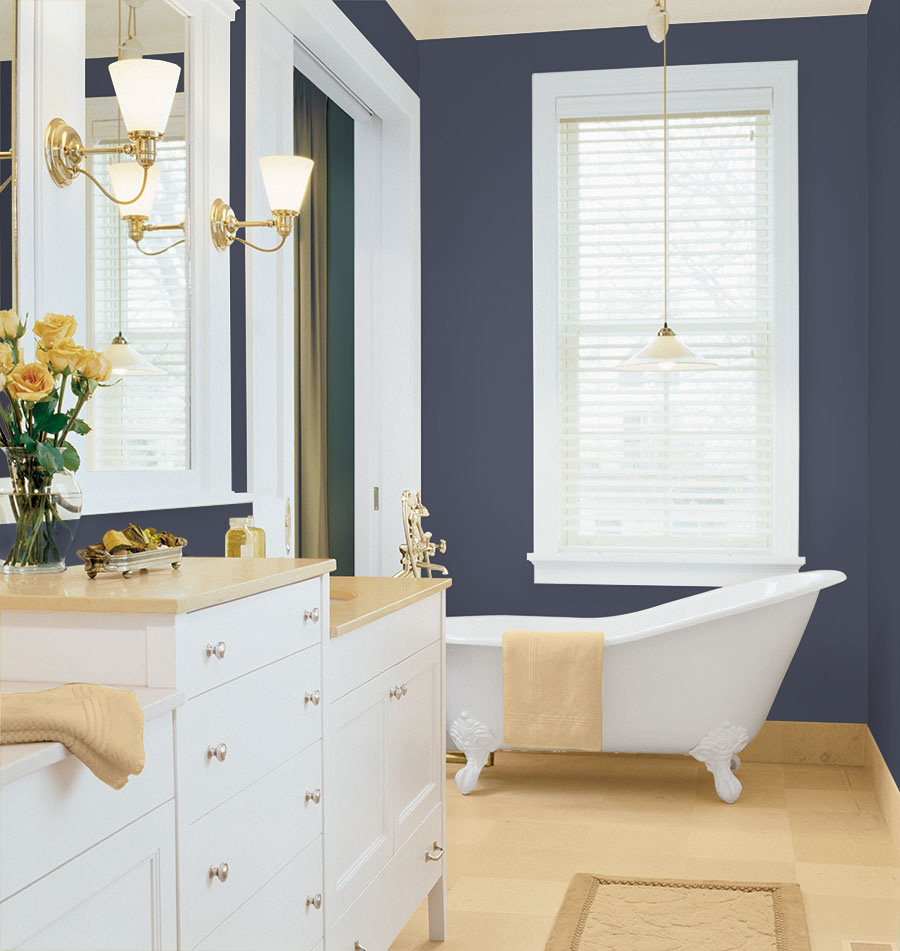 PPG 2018 Color of the Year: PPG1043-7 Black Flame - Bathroom