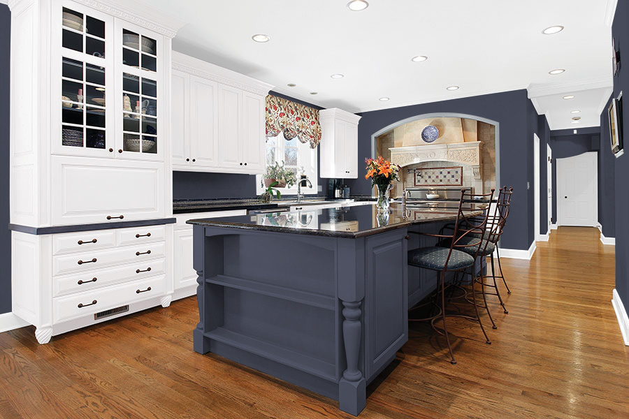 PPG 2018 Color of the Year: PPG1043-7 Black Flame - Kitchen