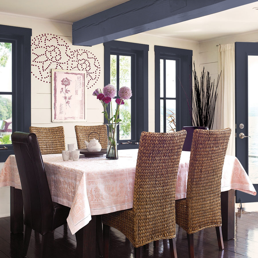 PPG 2018 Color of the Year: PPG1043-7 Black Flame - Dining Room