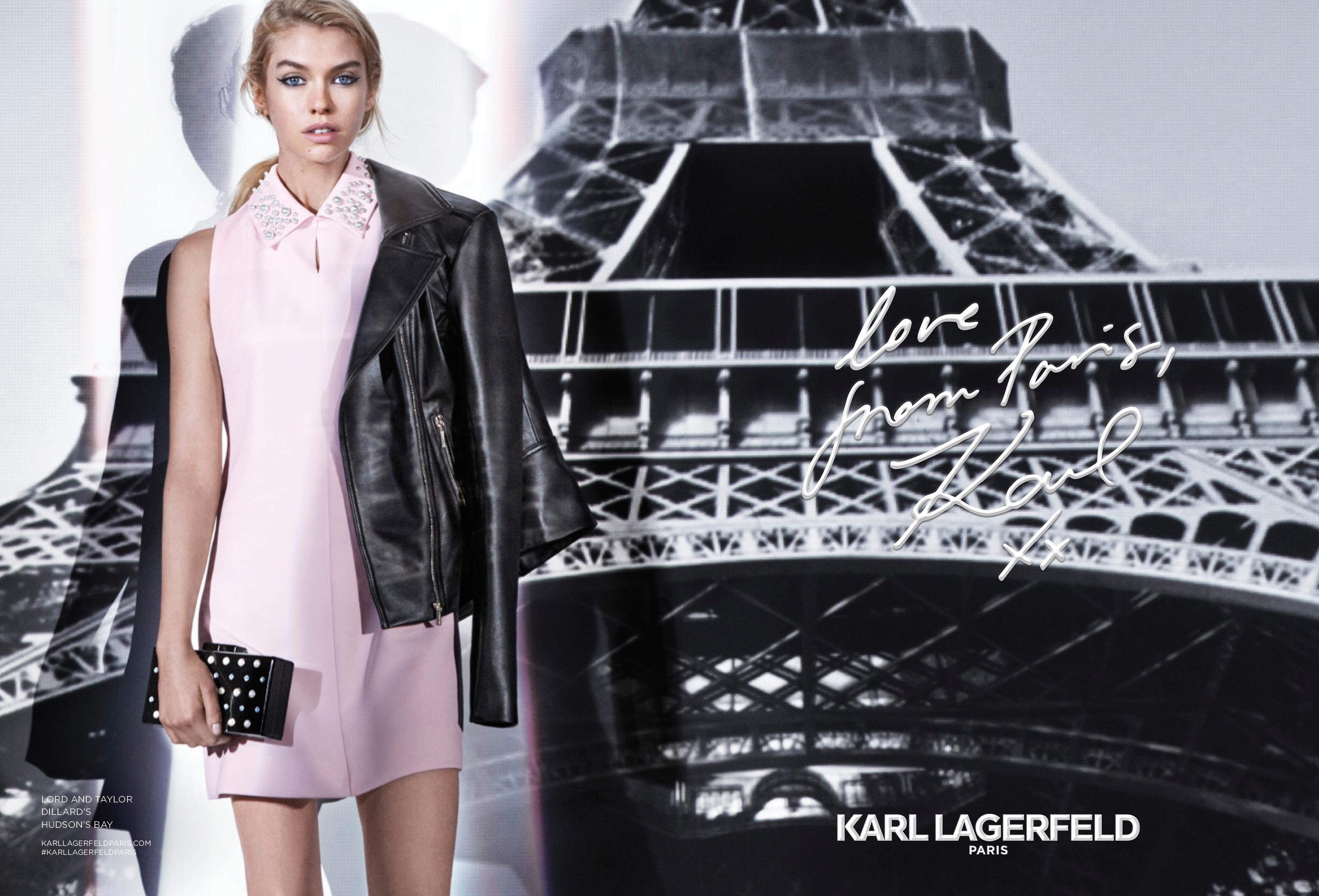 KARL LAGERFELD PARIS Fall 2017 Campaign Featuring Stella MAXWELL