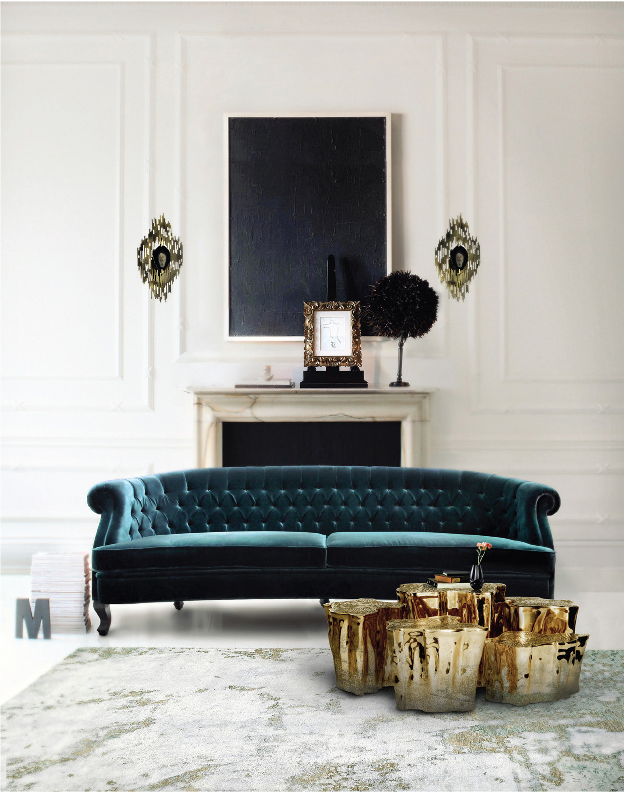 Living Rooms With Modern-Classic Inspirations by Covet House