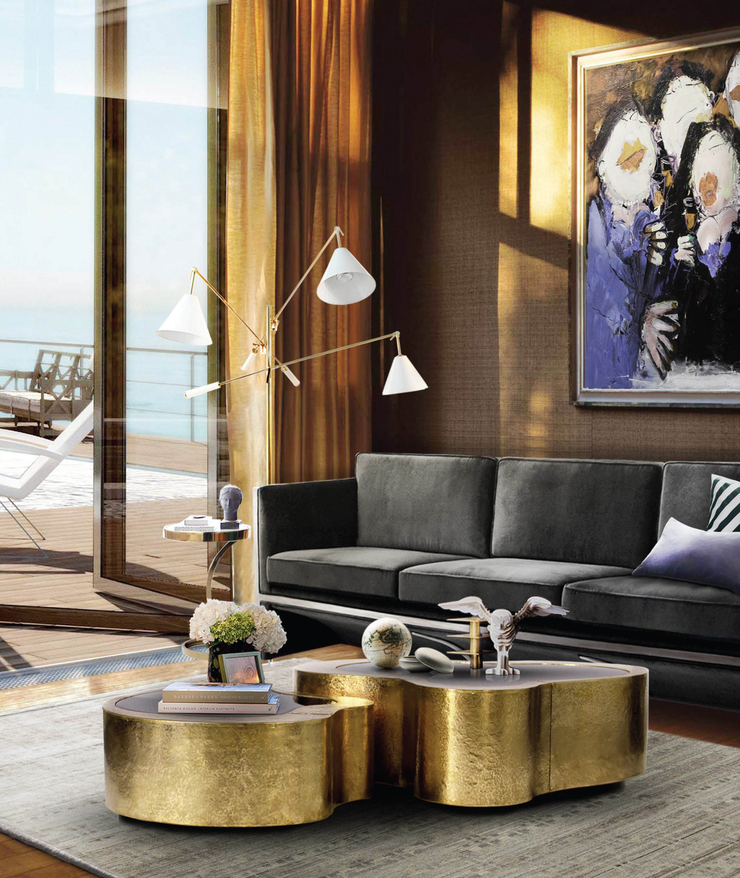 living rooms with modern classic inspirations by covet house fashion trendsetter. Black Bedroom Furniture Sets. Home Design Ideas