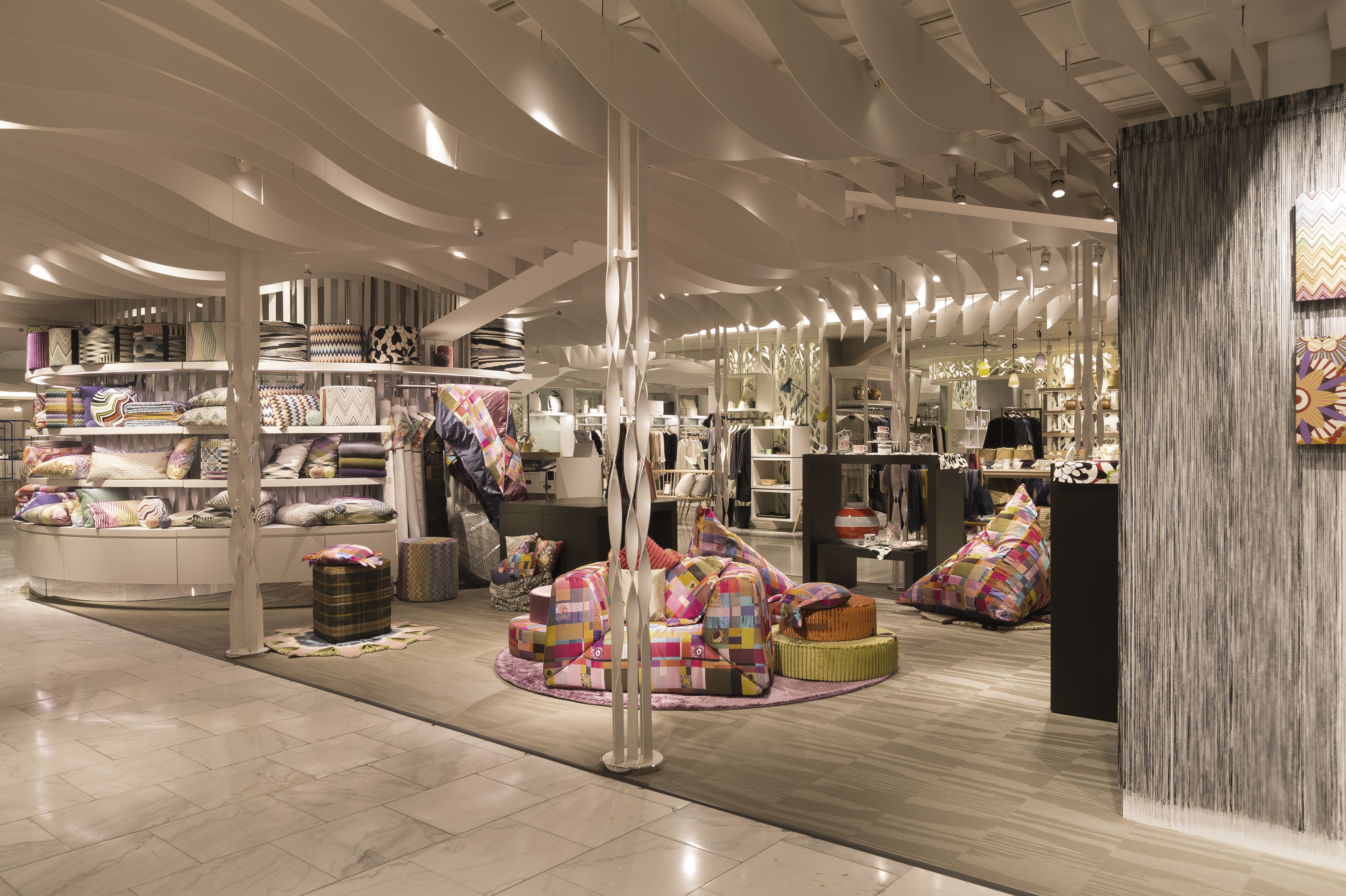 Bolon flooring featured in missoni home tokyo pop up store for Home flooring stores