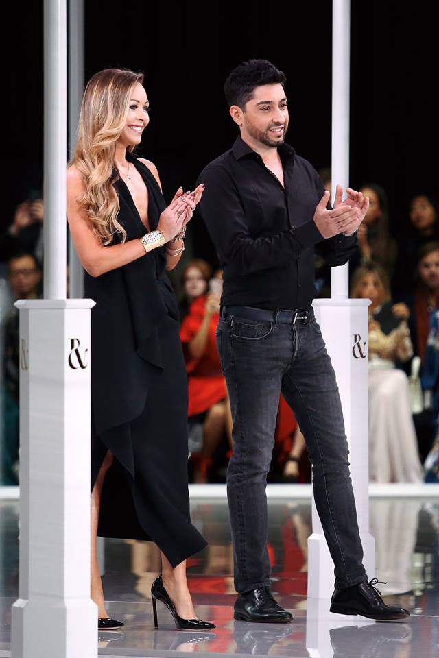 The Ralph & Russo Co-Founders following the unveiling of their Spring/Summer 2018 Ready-to-Wear Collection