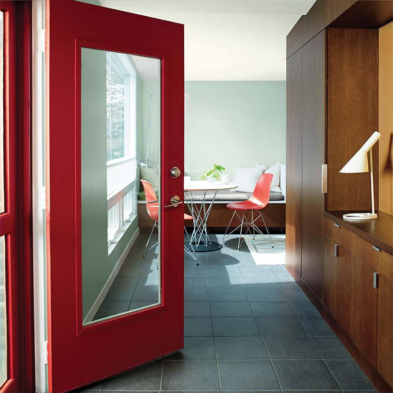 benjamin moore s color of the year caliente af 290 fashion trendsetter. Black Bedroom Furniture Sets. Home Design Ideas