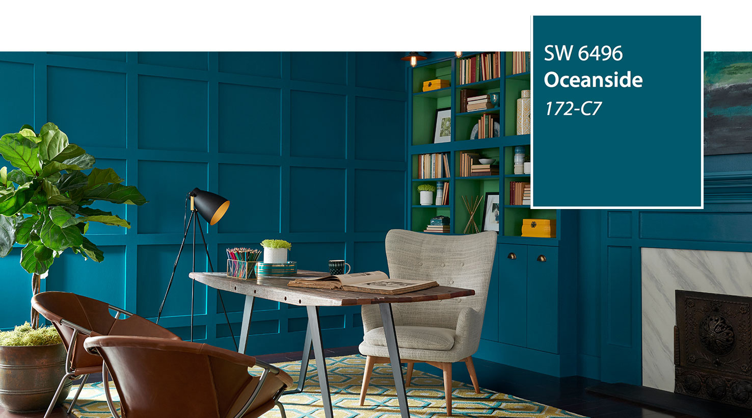 Sherwin Williams Color Of The Year Oceanside Sw 6496