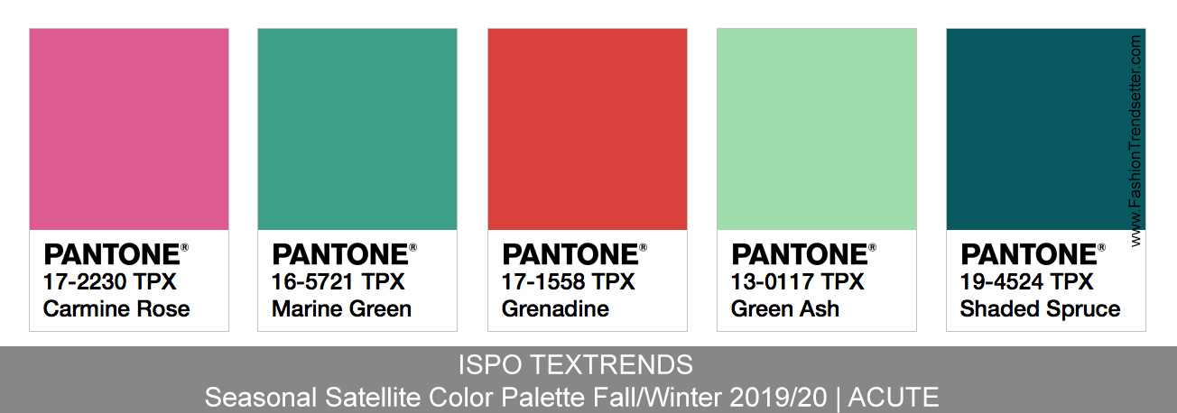 ISPO TEXTRENDS Color Trends Fall/Winter 2019/20 - Fashion