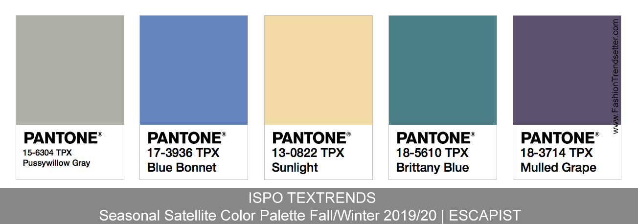 Fall 2020 Color Trends.Ispo Textrends Color Trends Fall Winter 2019 20 Fashion