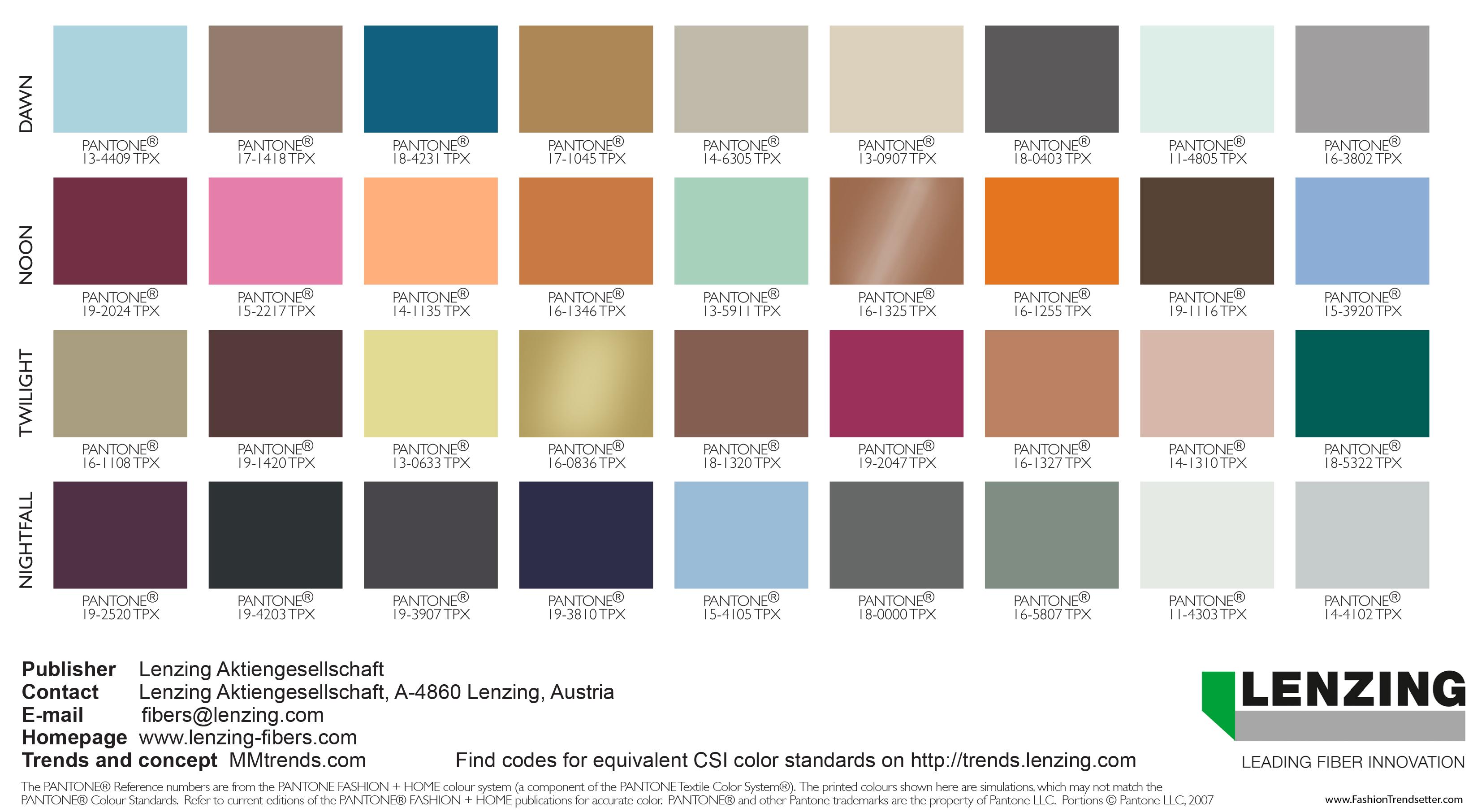 Lenzing Color Trends Autumn/Winter 2019/2020 ‹ Fashion ...