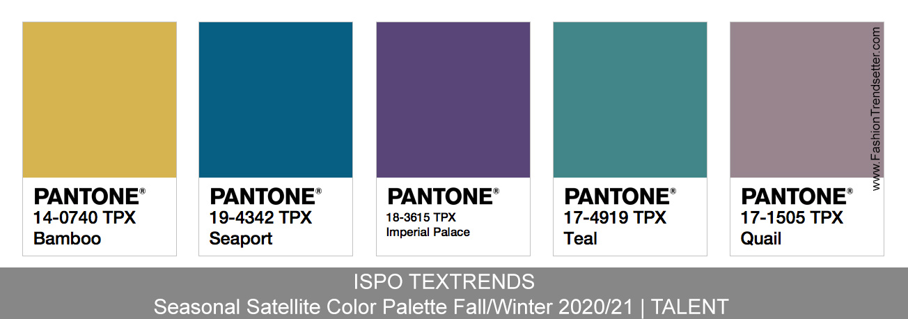 Color Trends 2020 Fashion.Ispo Textrends Color Trends Fall Winter 2020 21 Fashion