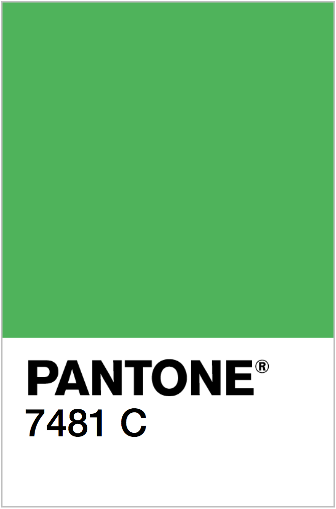 PANTONE NEON GREEN COLOR SWATCH
