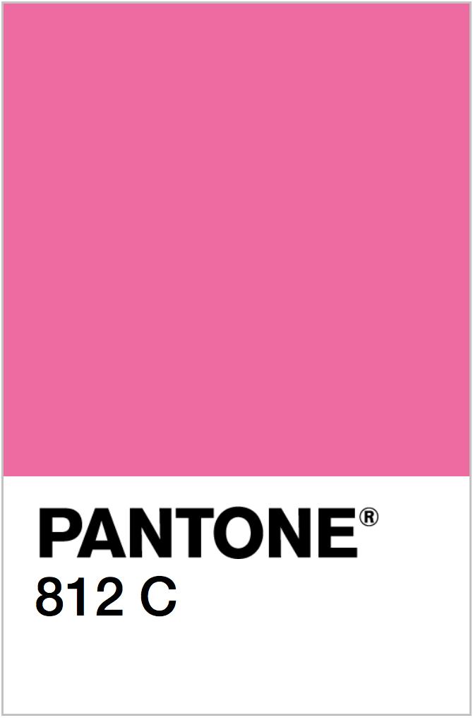 PANTONE NEON PINK COLOR SWATCH