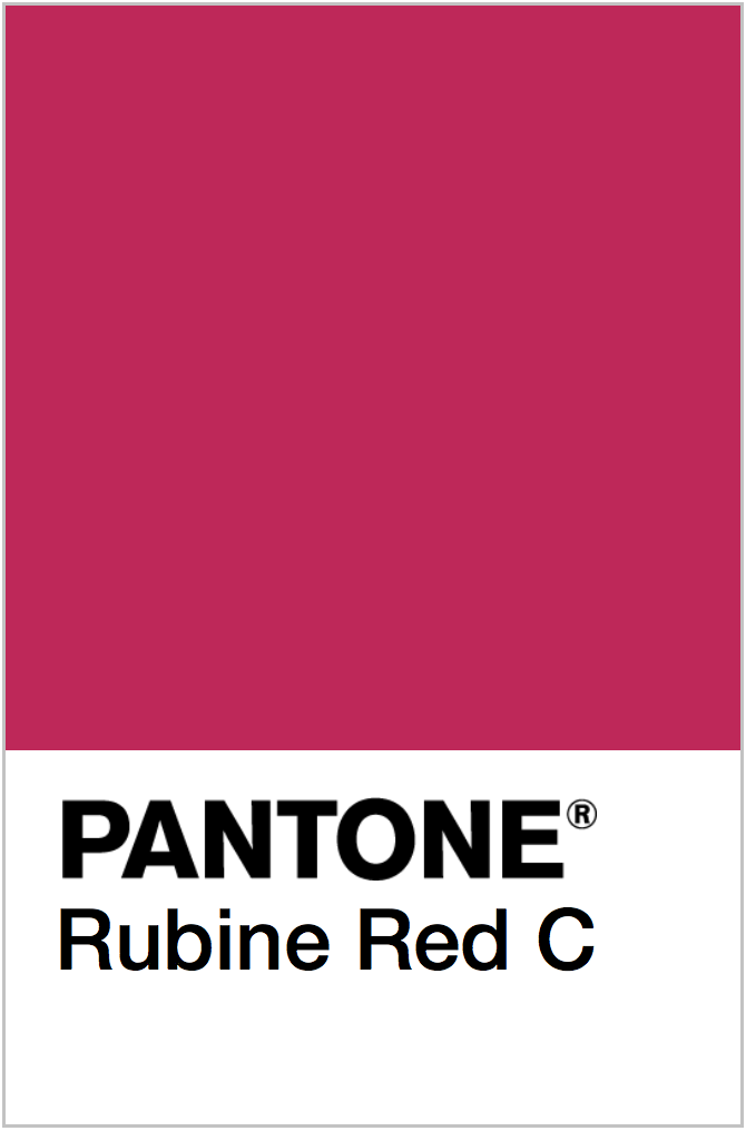 PANTONE NEON RED COLOR SWATCH